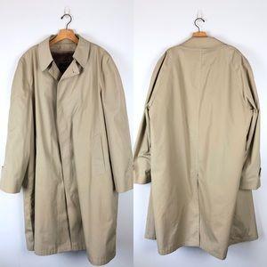 VINTAGE Botany 500 fur lined trench coat, size 46